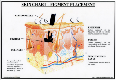 pigment and skin depth with a tattoo