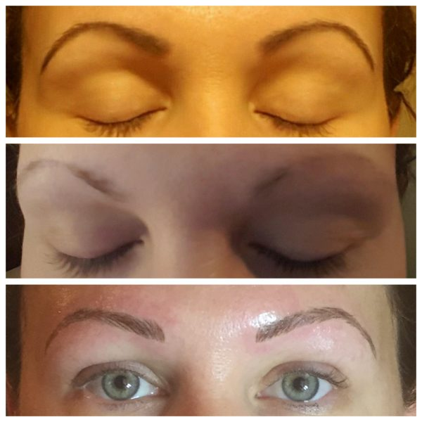 Amanda before and after microblading