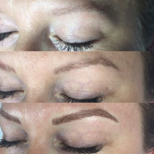 jeni microblading process left view