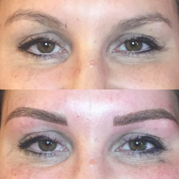 jessie front view microblading