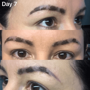 Microblading healing day 7