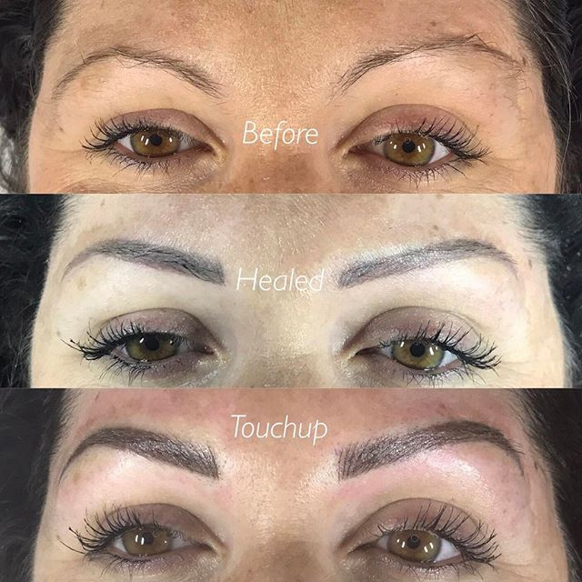 Kara Microblading front progress view
