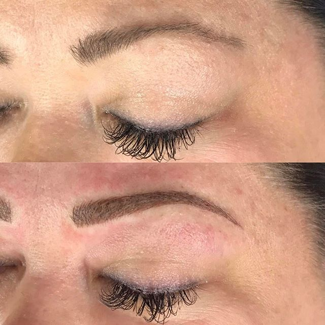 cami left brow first microblading visit softap