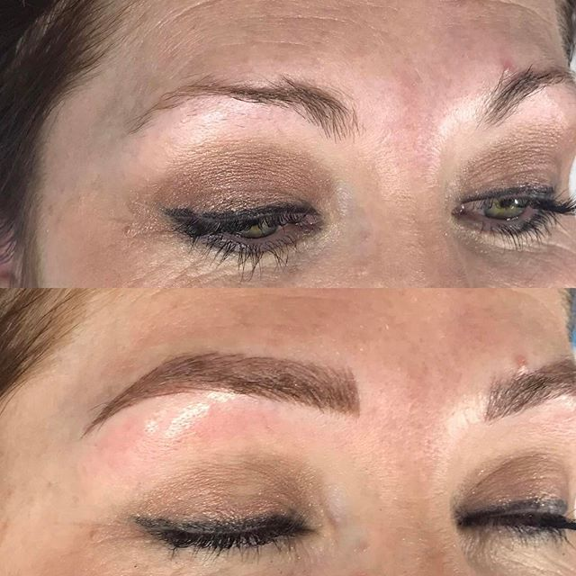 katie right brow view strokes and shading