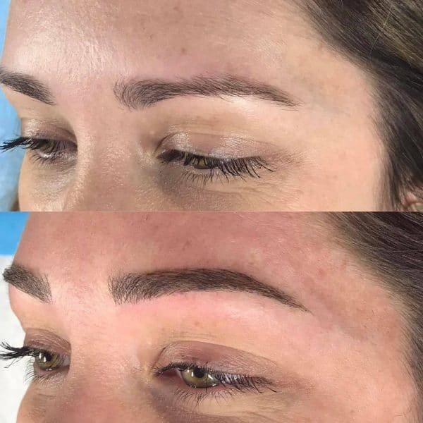 kyndra microblading before and after
