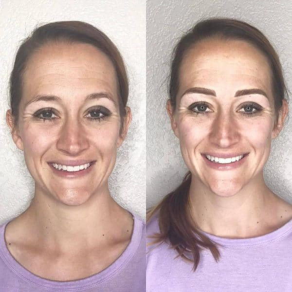 Full face microblading before and after