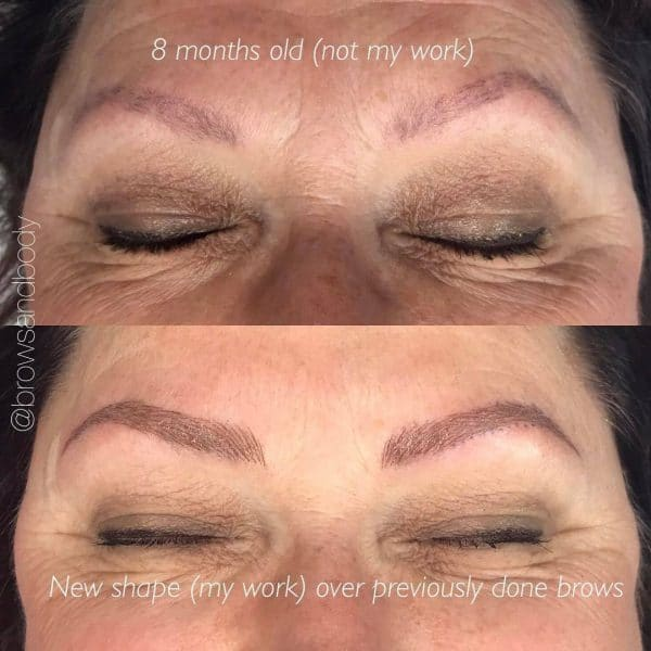 Microblading after 8 months without touch up