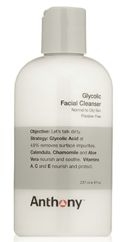 anthony glycolic facial cleanser for men