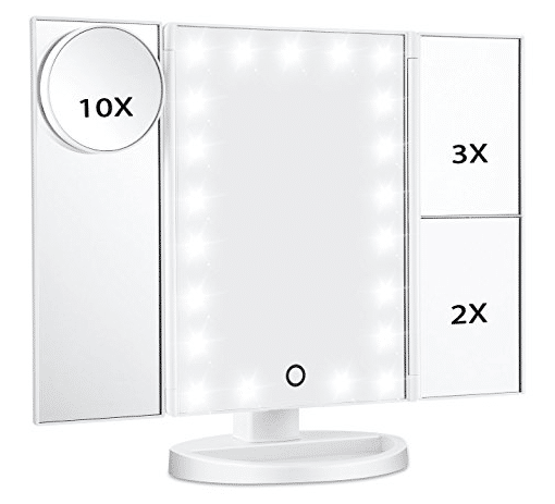 budget makeup mirror with lights
